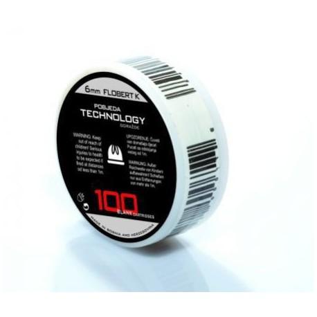 Naboje hukowe PTG 6 mm SHORT 100 szt.