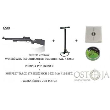 Zestaw Strzelecki KARABINEK+POMPKA+ŚRUT+TARCZE